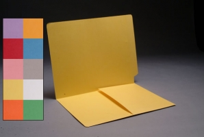 End Tab Color folder with Left hand 1/2 pocket, 50<br />B-1S-9011XX