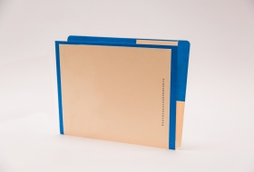 Kolor-Lok™ End/Top Tab Left Hand Pocket Folder with Fastener in Position 1, 50<br />12-F2643XX