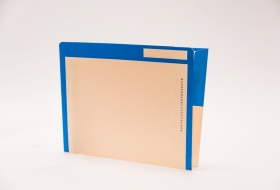 Kolor-Lok™ End Tab Right Hand Pocket Folder with Fastener in Position 3, 50<br />12-F453XX
