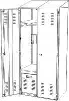 Personal Storage Locker - Starter Unit<br />DA-PLOC1