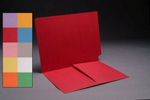 End Tab Color folder with Left hand 1/2 pocket, 50<br />B1-S-9007XX